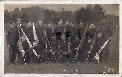 WW1 soldier group signallers Royal Engineers Signal Company RE Kitchener's Army