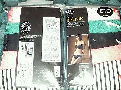 new marks and spencer 10 pairs of bikini style pants size 14