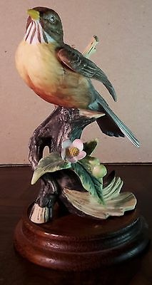 Gorham The Gallery Birds Robin on Wood Base Vintage bb-4