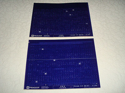 Peugeot 205 From Model Year 1990 Parts Microfiche Full Set Of 2 - July 2001 New