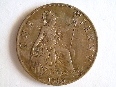 1913 Great Britain Penny