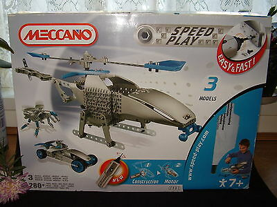 New! Meccano Speed Play Helicopter Set