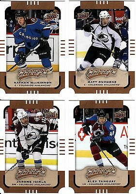 Colorado Avalanche, 4 X 2015-16 Nhl Cards, Upper Deck Mvp, Great Lot.