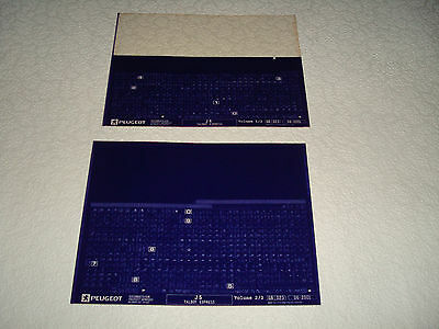 Peugeot J5, Talbot Express Parts Microfiche Full Set Of 2 - Dated June 2001