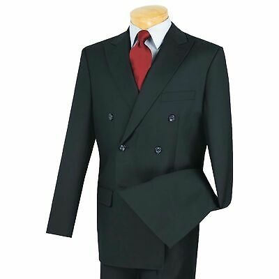 Men's Navy Blue Double Breasted 6 Button Classic-Fit Suit NEW
