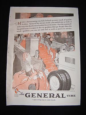 1928 The General Tire Full Page Advertisement Original Vintage Print Ad