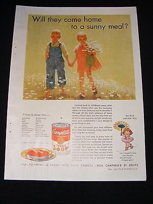 1932 Campbell's Soup Full Page Advertisement Original Vintage Print Ad
