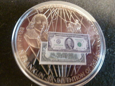 Banknotes Of The U.s.a.-$100.00 Banknote-Ben Franklin-Eagle. Us Flags