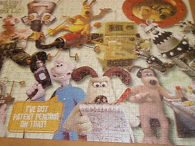 Wallace & Gromit jigsaw Crackin' Inventions! 1000 pieces -vgc complete Aardman
