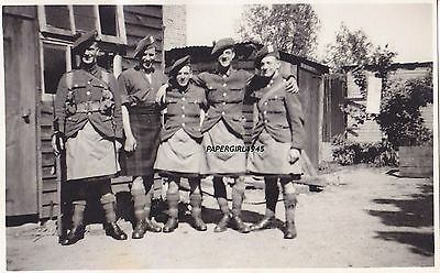 WWI Highland Light Infantry Real Photographic Postcard