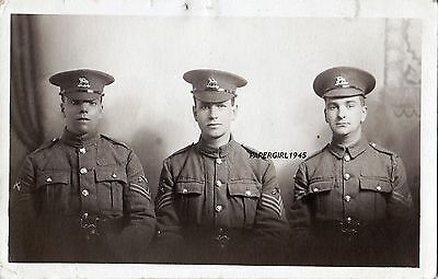 WWI Queens Regiment P.T.I. N.C.O's. Real Photographic Postcard