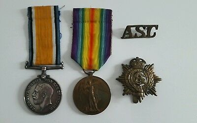 silver War Medal and Victory Medal  - ww1 cpl harold garrick