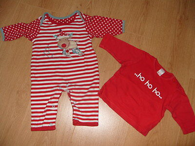 Little bundle Christmas clothes for baby up to 3 months