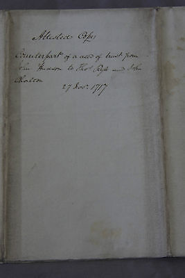 Early Document Related to People in Lancaster and Chester Counties, 1717