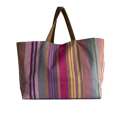 Pink Multi Striped Kikoy Bag