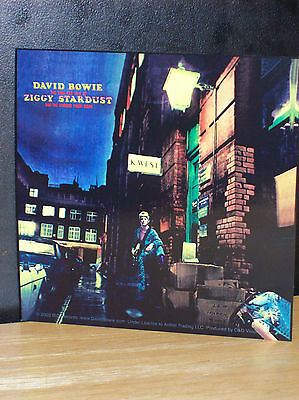 """David Bowie Ziggy Stardust Lp Cover Sticker New Officially Licensed 4"""" X 4"""""""
