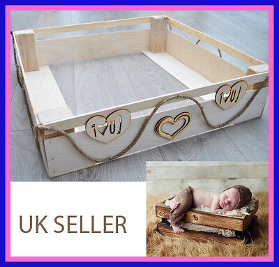 Newborn Handmade Tray Bed Photo Prop Baby Photography Prop Wood Plywood