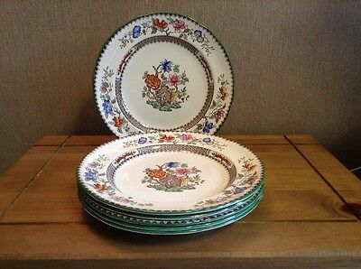 "COPELAND SPODE CHINESE ROSE 9"" salad plates x 6  ex condition"