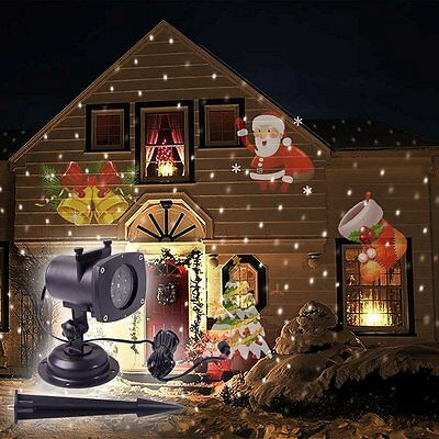 NEW Christmas Film Projection Lights Rotating LED Lamp Decoration Fast Delivery