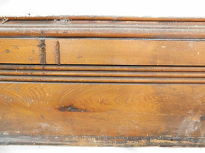 Antique Victorian Base Trim and Cap - C. 1885 Butternut Architectural Salvage