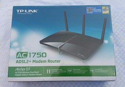 *Sealed* TP-Link Archer D7 AC1750 Wireless Dual Band Gigabit ADSL2+ Modem Router