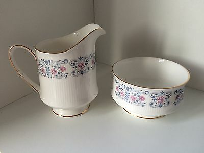 Vintage Royal Standard Bone China Milk Jug And Sugar Bowl Floral Design