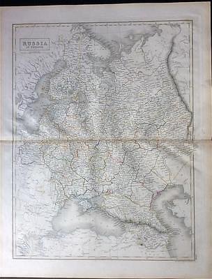 Map RUSSIA c1843, Black's General Atlas of World, VGC, engraved