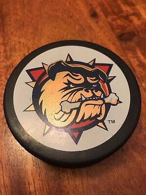 Vintage AHL Bulldogs Old Official Hockey Puck (KC)