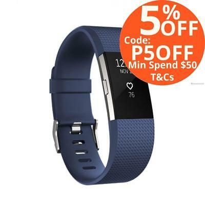 Fitbit Charge 2 HR Activity Tracker Sleep Fitness Monitor Wristband Blue Small