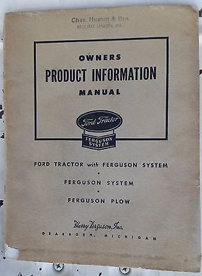 Ford Tractor Owners Product Information Manual
