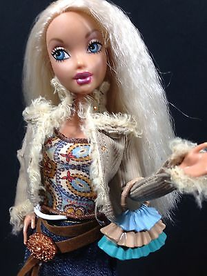 Barbie My Scene Doll Kennedy Articulated Pose-able Boho Skirt Top Jacket Boots