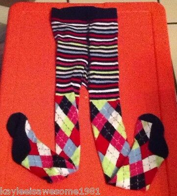 Colorful Girls Footed Tights Size 5