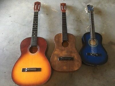 3 X Classical Guitars, Different sizes, Some tuners/Strings needed, Need work