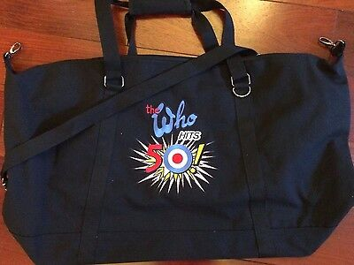 The Who Hits 50 ! 2015 Tour Vip Duffel Travel Bag Roger Daltrey & Pete Townshend