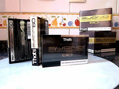 CASSETTE TAPE BLANK SEALED - 1x (one)  THAT'S SUONO 60 [1990-92] -- METAL TOP --