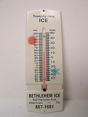 Vintage Bethlehem Ice Co. Advertising Thermometer