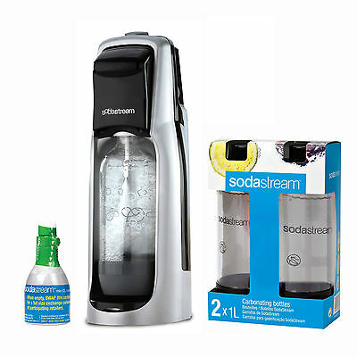 SodaStream Fountain Jet Sparkling Water Maker, Black