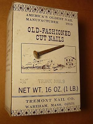 """(25) 1 1/4"""" Old Fashioned Project Nails Historic Restoration Furniture Trunk Lot"""