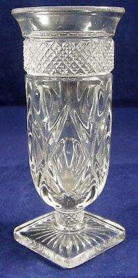 "Vintage Imperial Cape Cod Clear Glass Short Parfait 5 3/4"" Tall"