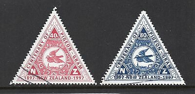 New Zealand SC #1435-1436 used - Pigeon Mail Service