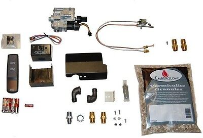Remote Controlled Safety Pilot Conversion Kit for Vented Gas Logs Fireplaces