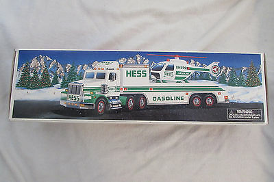 Hess 1995 Truck And Helicopter-Lights &Operating Helicopter Rotors Free shipping