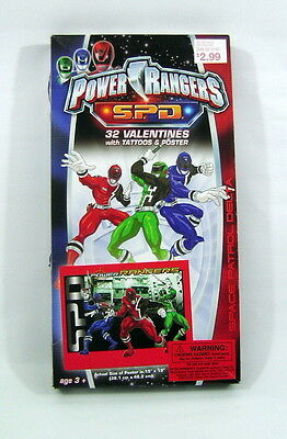 Power Rangers S.P.D. Valentines with Tattoos & Poster