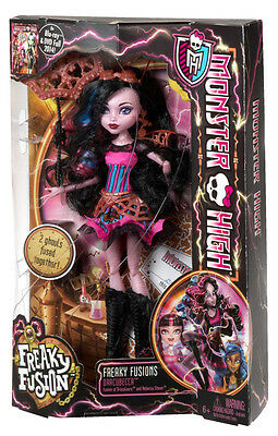 Monster High Freaky Fusion Dracubecca Doll Brand New In Box Bjr38