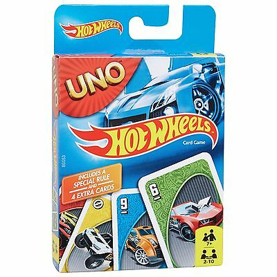 Hot Wheels Uno Card Game From Mattel Games With 4 Bonus Cards Brand New Bgg53