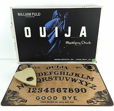 Vtg 60s William Fuld Parker Brothers Ouija Board Game w/ Box & Planchette