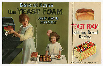 Early Yeast Foam Lightning Bread Recipe Booklet Northwestern Yeast Chicago IL