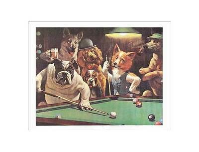 """""""The Hustler"""" Unframed Pool Themed Print - 20 x 16 Inches [ID 31432]"""