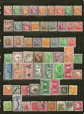 New Zealand 50+ Old Used Stamps