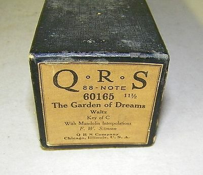 Vintage QRS Player Piano Word Roll The Garden Of Dreams 60165 Waltz RARE